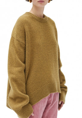 Céline Asymmetric Cashmere Crewneck Sweater