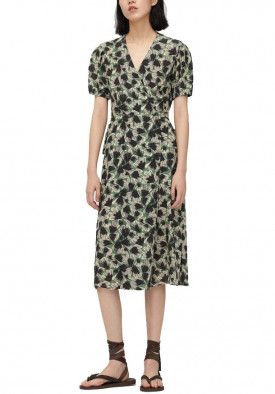 Carven x Icicle Flower Print Midi Wrap Dress