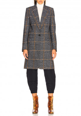 Chloé Checked Houndstooth Woven Coat