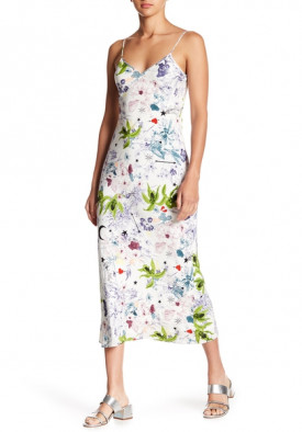 Cinq à Sept Emmalyn Floral-Print Silk Midi Slip Dress