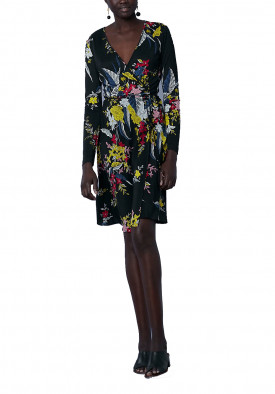 Diane von Furstenberg Camden Floral Long-Sleeve Wrap Dress