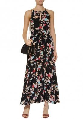 Diane von Furstenberg Floral Halterneck Silk Dress