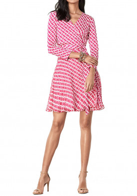 Diane von Furstenberg Irina Chainlink Silk Jersey Wrap Dress