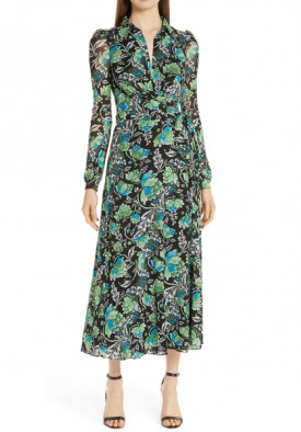 Diane von Furstenberg Phoenix Wrap Mesh Dress