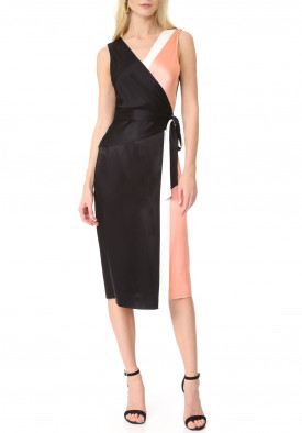 Diane von Furstenberg Sleeveless Taped Wrap Dress