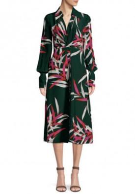 Diane von Furstenberg The DVF Von Quincy Hunder Print Dress