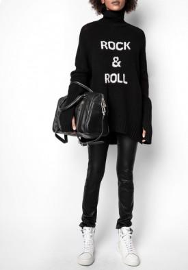 Zadig & Voltaire Alma Rock & Roll Merino Wool Turtleneck Sweater