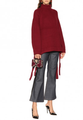 Ellery Wallerian Oversize Side Tie Slit Turtleneck Sweater