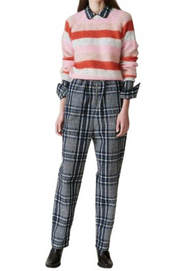 Ganni Cordelia Striped Mohair & Wool Sweater