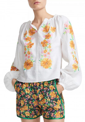 MAJE EMBROIDERED FLORAL BLOUSE