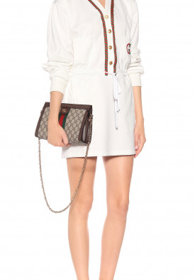 Gucci Technical Jersey GG Logo Mini Dress