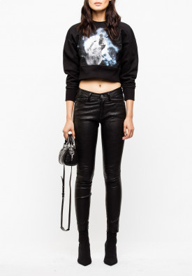 Zadig & Voltaire Wolfy Show Cropped Sweatshirt