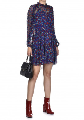 The Kooples Rosa Rosa Printed Chiffon Mini Dress