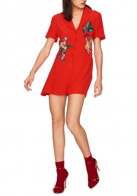 Idano Ségur Embroidered Playsuit