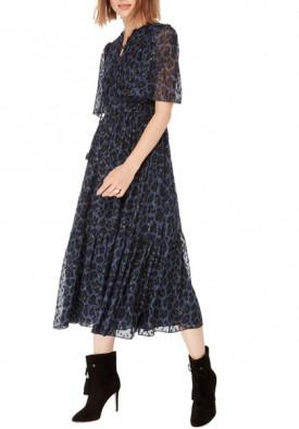 Kate Spade Leopard Clip Dot Midi Dress