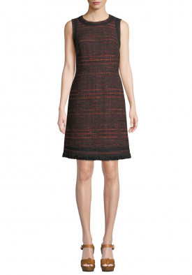 Kate Spade Multi Tweed Fringe Dress