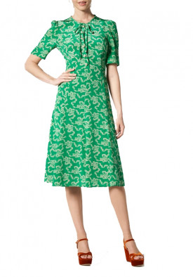 L.K. Bennett Montana Printed Silk Midi Dress