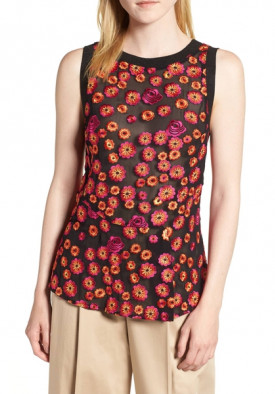 Lewit Floral Embroidered Tank Top