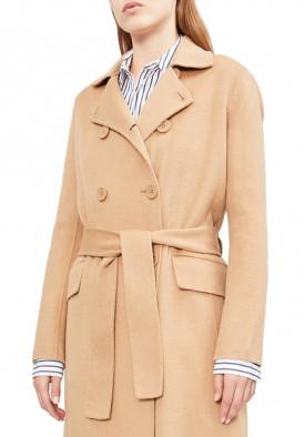 Maje Geola Long Double-Faced Wool Coat