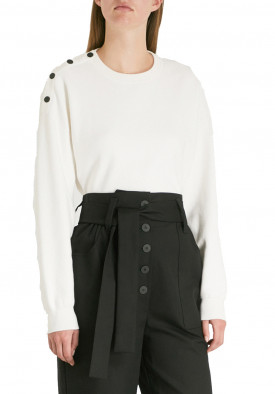 Maje Marlina Shoulder Button Sweater