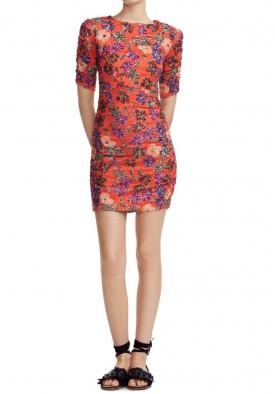 Maje Razul Sequined Floral Sheath Mini Dress