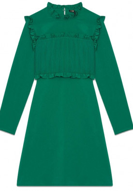 Maje Roumba Pleated Bib Straight Dress