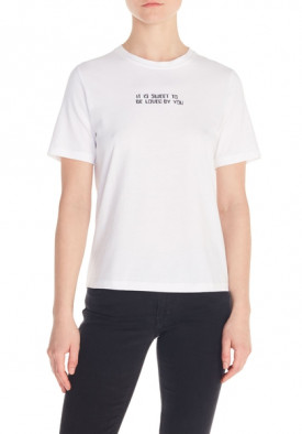 Maje Timea T-shirt with Slogan and Print