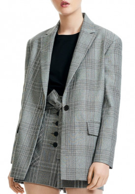Maje Vaime Check Suit Jacket