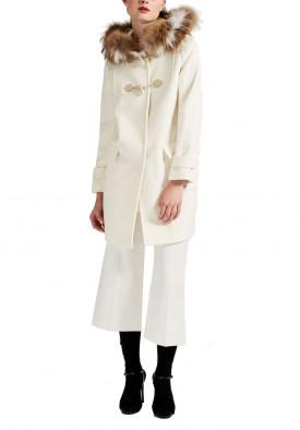 Max Mara Studio Volano Fur Hood Wool Duffle Coat