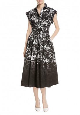 Michael Kors Collection Leaf Dip-Dye Cotton-Poplin Shirtdress