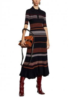 Proenza Schouler Zig-Zag Stripe Knit Midi Skirt