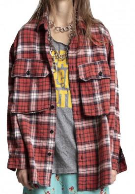R13 Oversized Plaid Shirt