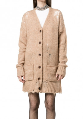 R13 Wool Distressed Knitted Cardigan