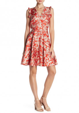 Rebecca Taylor Cherry Blossom Sleeveless Silk Dress