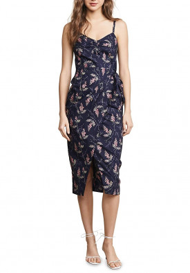 Rebecca Taylor Ivie Sleeveless Wrap Dress