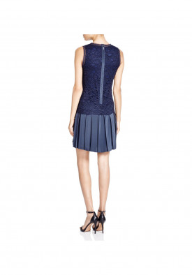 Rebecca Taylor Lace Mix Pleated Dress