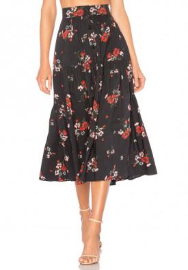 Rebecca Taylor Marguerite Floral Poplin Skirt