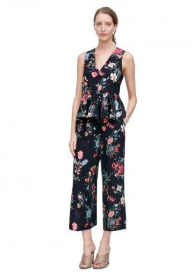 Rebecca Taylor Meadow Floral Print Silk V-Neck Dress