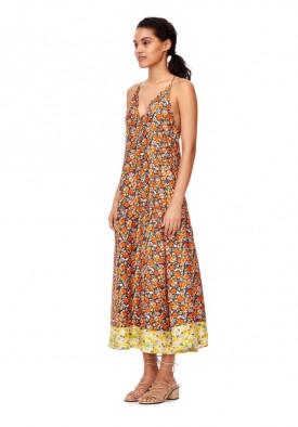 Rebecca Taylor Moonlight Garden Sleeveless Maxi Dress