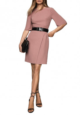 Reiss Myra Tailored Wrap Front Dress