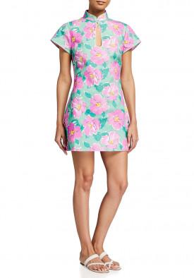 Rixo Azalea Bloom Lolita Cotton Mini Dress