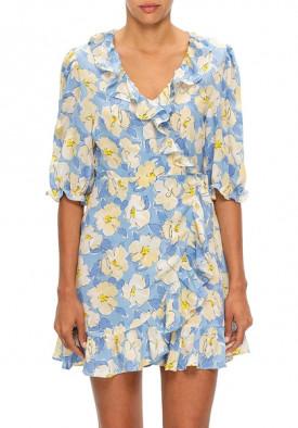 Rixo Nina Azelea Bloom Mini Wrap Dress