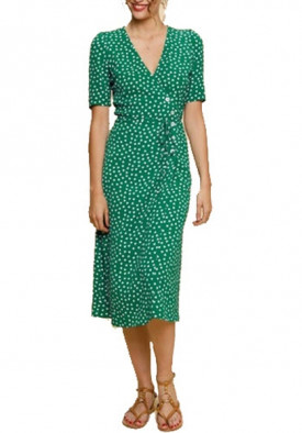 Rouje Gabin Printed Wrap Midi Dress