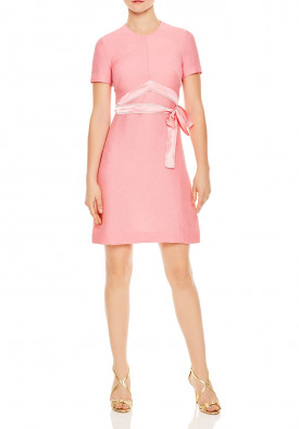 Sandro Isaure Silk-Sash A-Line Dress