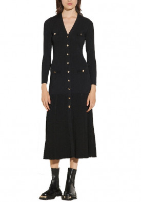 Sandro Jannel Long Button-Up Cardigan Dress