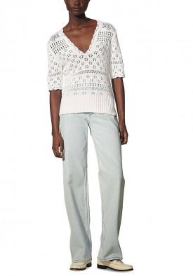Sandro Joe Pointelle-Knit Cotton Sweater