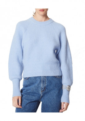 Sandro Knautie Jewel Sleeve Sweater