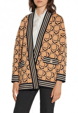 Sandro Ron Reversible Oversized Cardigan