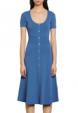 Sandro Sophy Buttoned Knit Midi Dress