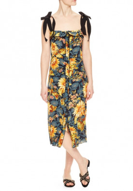 Sandro Sunset Silk Floral Print Dress